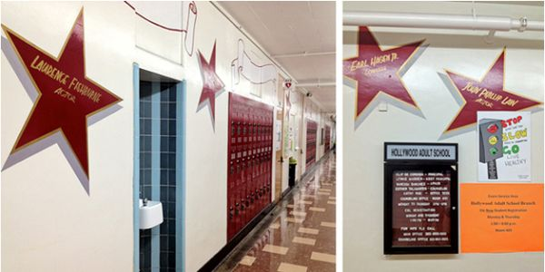 The school has its own Walk of Fame