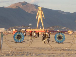 burning man in california