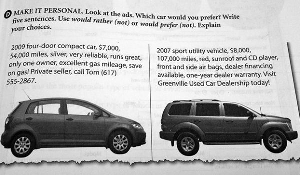 Prices on cars